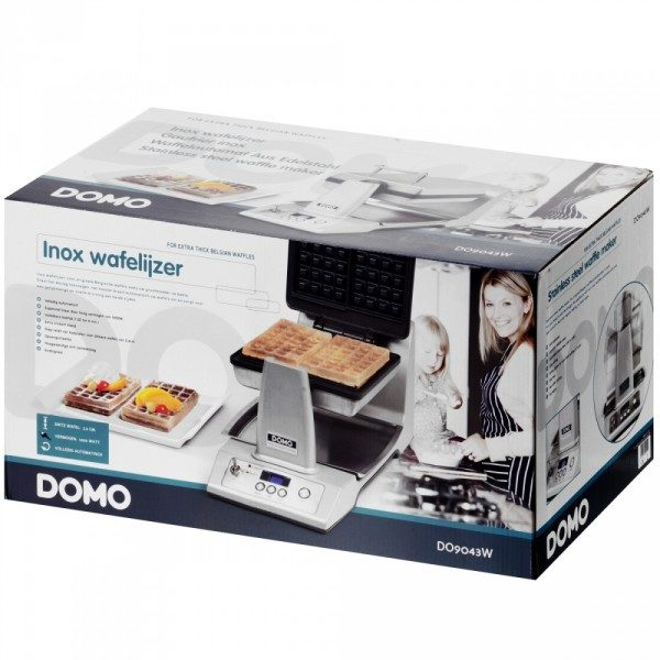 Wafelijzer Domo verpakking - wafelijzerwinkel.com