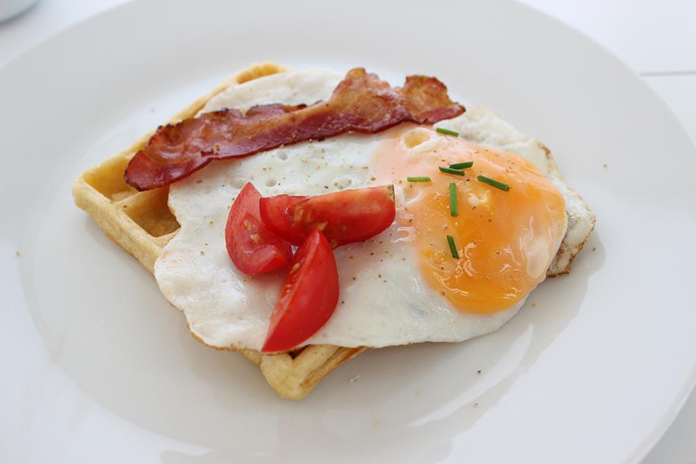 Wafel ontbijt op zondag